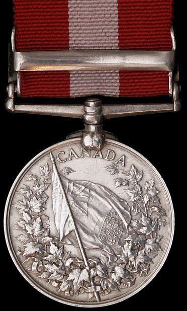 The Canada General Service Medal ; Fenian Raid 1866 , 1870, Red River 1870.
