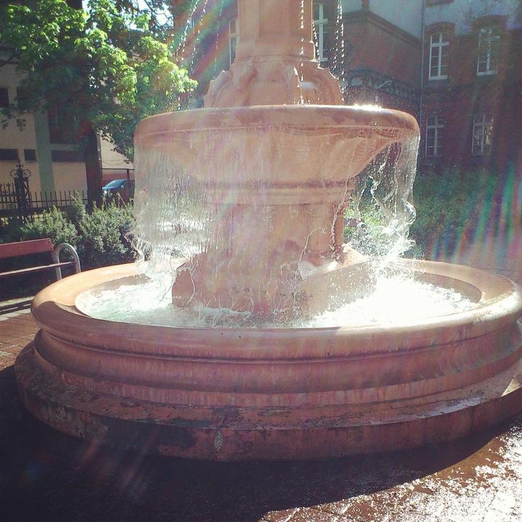 Plac im. Marii Skłodowskiej-Curie #wilda #park #poznań #fountain