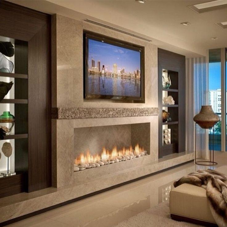 pingl par nunzia della rocca sur houses and places pinterest meuble tv foyer lectrique. Black Bedroom Furniture Sets. Home Design Ideas
