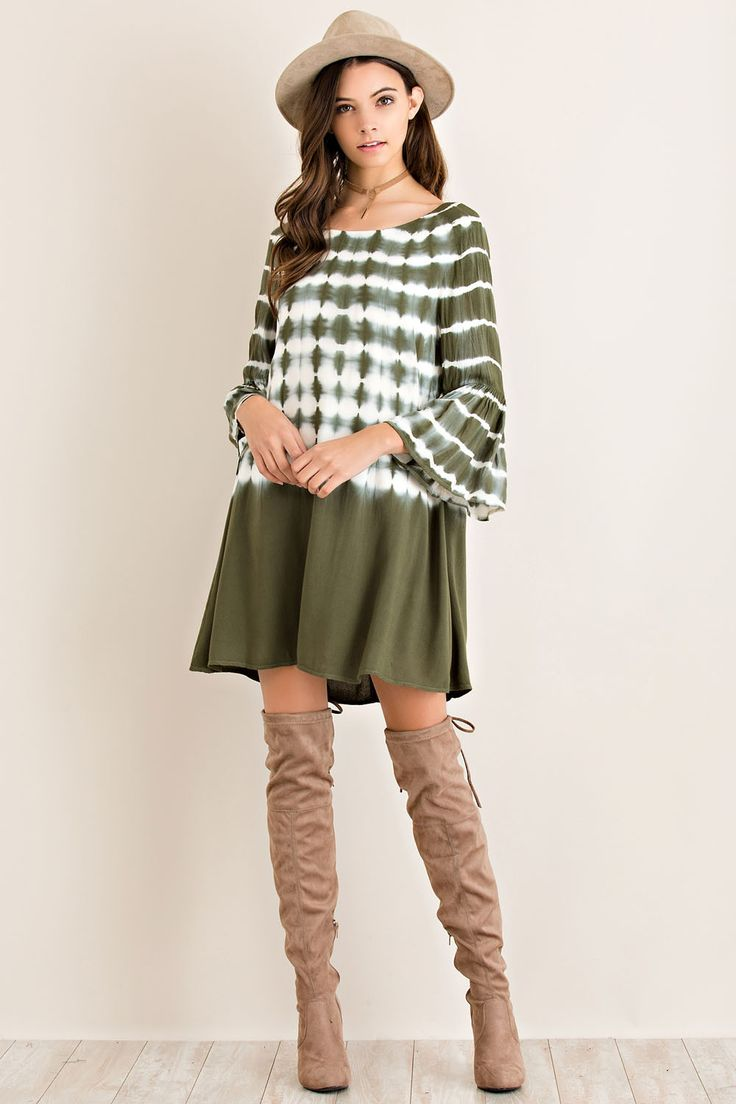 Please Dont Go Dress- Olive from Chocolate Shoe Boutique
