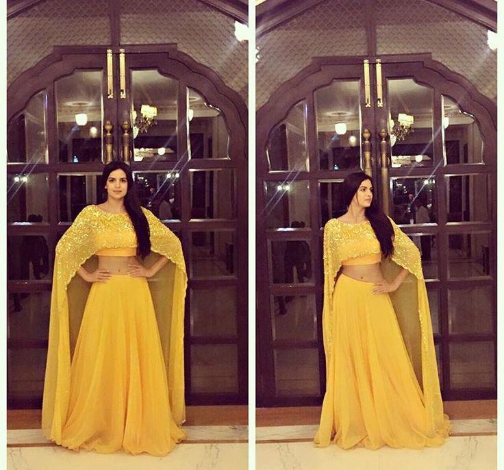 Natasha tankovic# yellow cape dress # fusion look