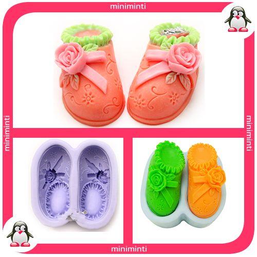 baby shoe soap mold, bebek ayakkabısı sabun kalıbı
