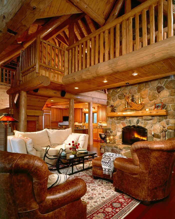 1000 ideas about cedar homes on pinterest lindal cedar for Log home living room ideas