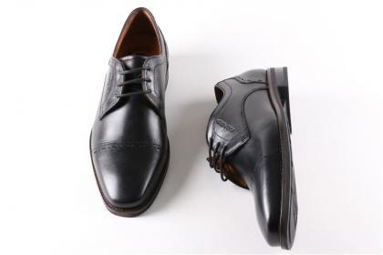 King Paolo - Erkek Yaz Siyah Klimalı Ortopedik %100 Deri Poli Taban Ayakkabı