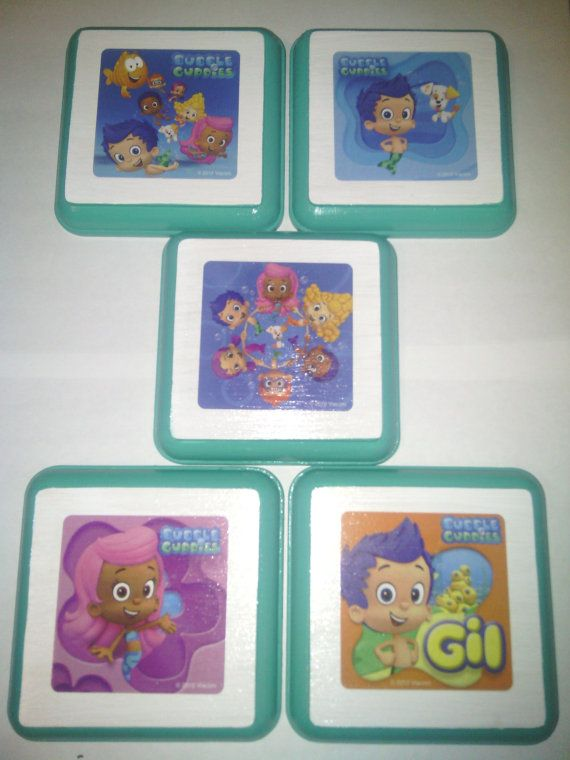 Bubble Guppies Wall Plaques Kid Nursery Bed Room by PNSWallPlaques   24 99. 19 best Auroras bubble guppy room images on Pinterest