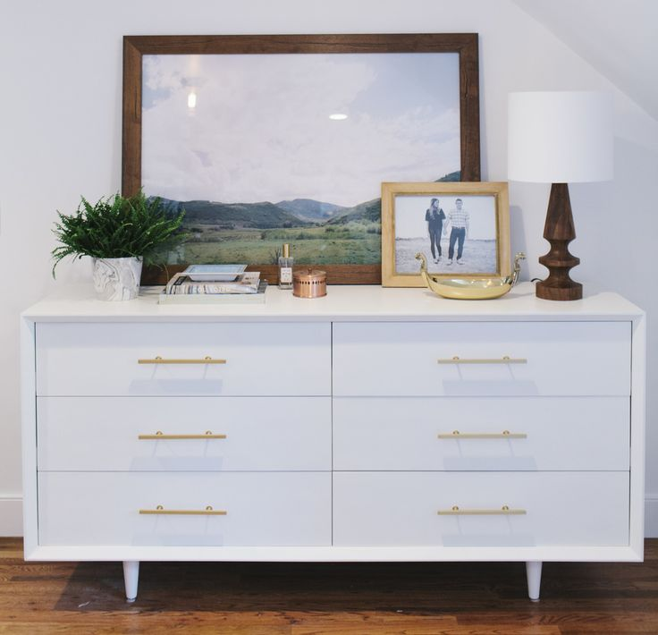 Not that I really need a dresser, but this is compact and would look great with copper pulls. | Dresser Styling || Studio McGee