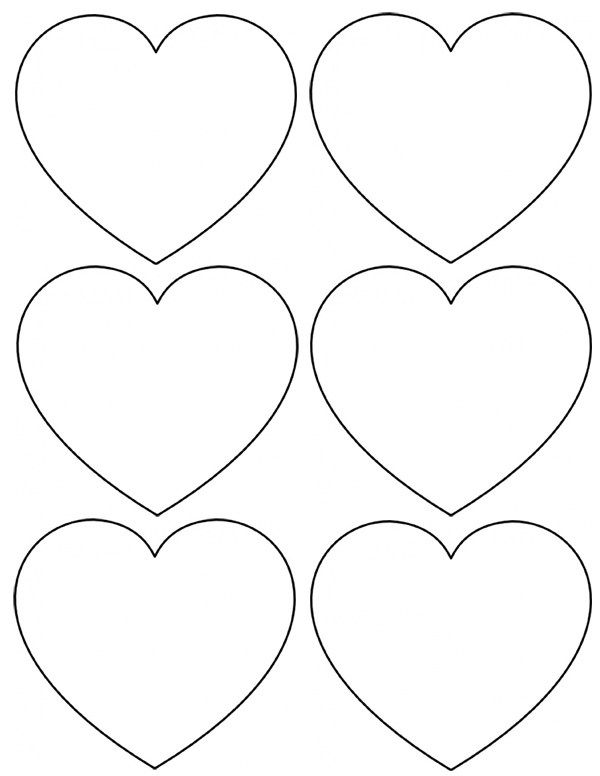 Heart Template Cut Out Printable One Cardboard From D I Y Cut