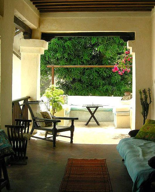 An Arab style resort with two open court yards, pretty arches and two beautiful gardens, Welcome to Subira House in Lamu