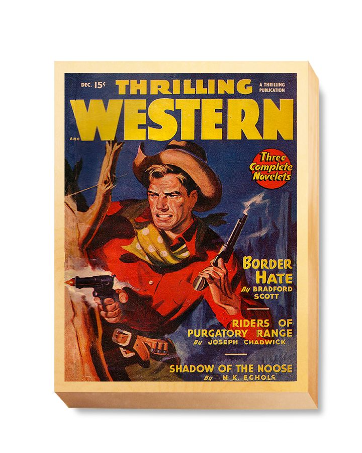 WES 009 Western Comic Thrilling Western Boarder Hate