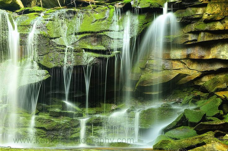 Almost Heaven Month:  Photo Detail of Elakala Falls, West Virginia