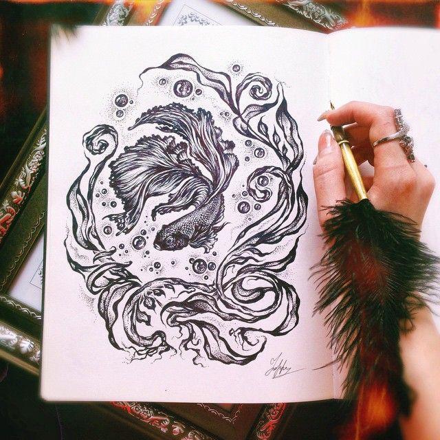 Рыбка моя рыбка Fish my fish... #рыбка #fish #art #artist #artwork #graphic #illustration #sketch #ink #paint #draw #idraw #арт #графика #иллюстрация #рисунок #ярисую #эскиз #набросок