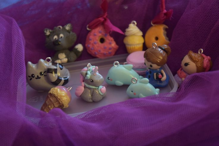 charms polymer clay