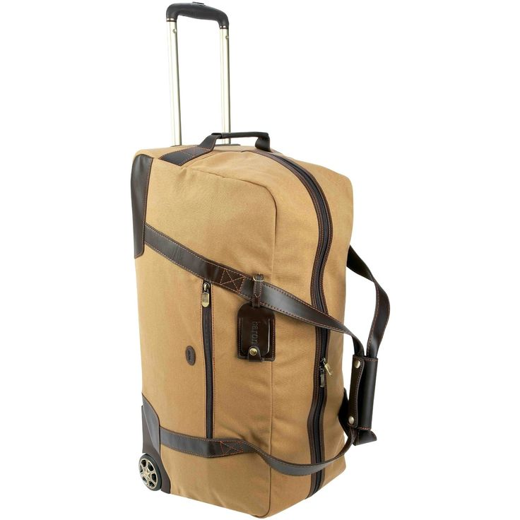 baron country canvas leather wheeled duffel bag clothing luggage pinterest. Black Bedroom Furniture Sets. Home Design Ideas