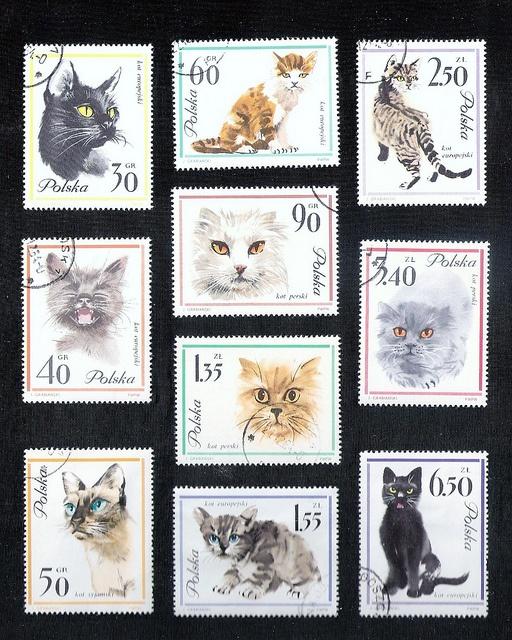Polish Cat Stamps, via Flickr.