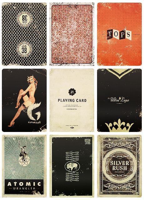 Vintage Playing Cards - Brings to mind late night games in dim smoky lounges. Can you hear the ice clink in the glass and the chips being pushed across the table?