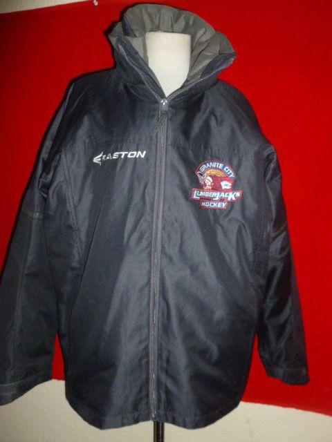 Easton Hockey Jacket 3-in-1 Granite City Lumberjacks Coat Warm Up Mens 3HL sz M  #Easton