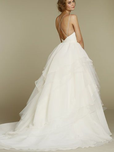 Spaghetti Strap Ball Gown Wedding Dress