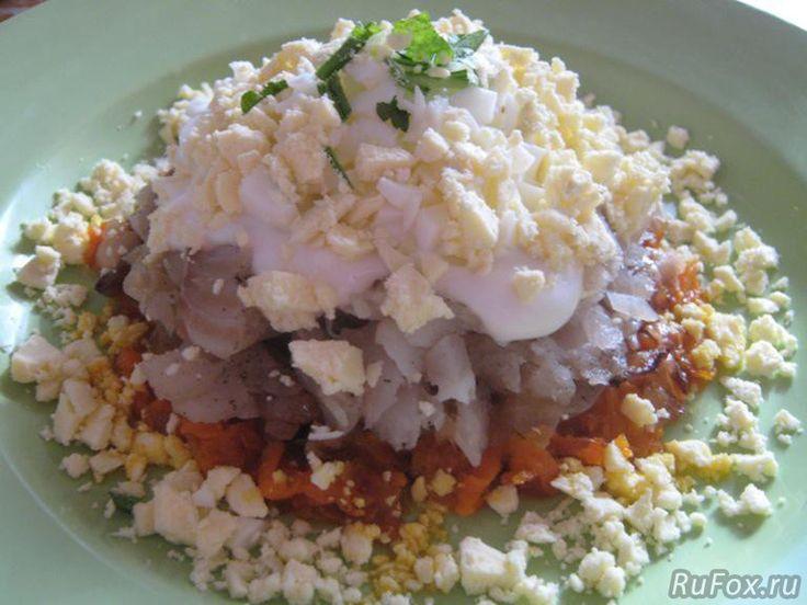 Рецепт приготовления салата с морским гребешком