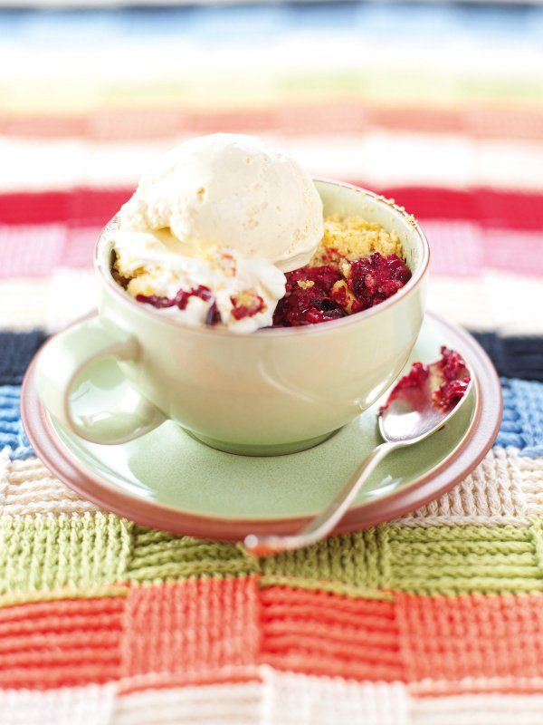 Jumble berry Crumble: Since you never know when you might be in urgent need of a crumble, I make up enough topping for at least 4 of these and let it sit safely in the freezer until required. Sprinkle it over your fruit of choice as it is, and cook from frozen. Sounds easy, doesn't it?