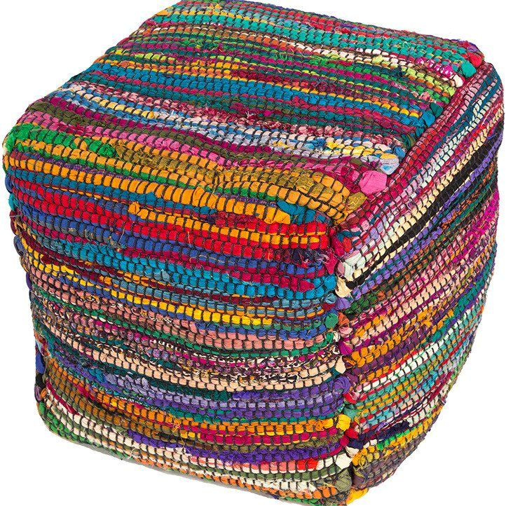 Caravan Sari Bohemian Pouf - colorful pouf with boho style - how to decorate with lots of color!