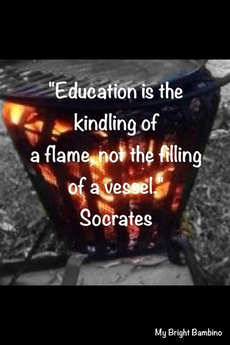 Quote igniting a flame