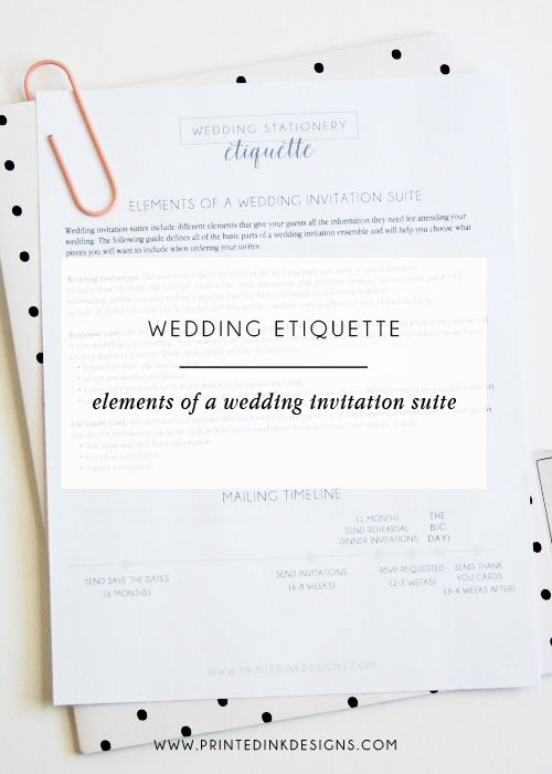 Wedding Invitation Etiquette: Elements of a Wedding Invitation — Intentionally Designed