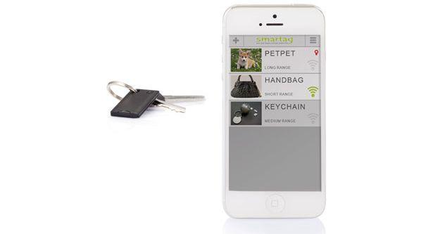 Selfie sleutelzoeker met app