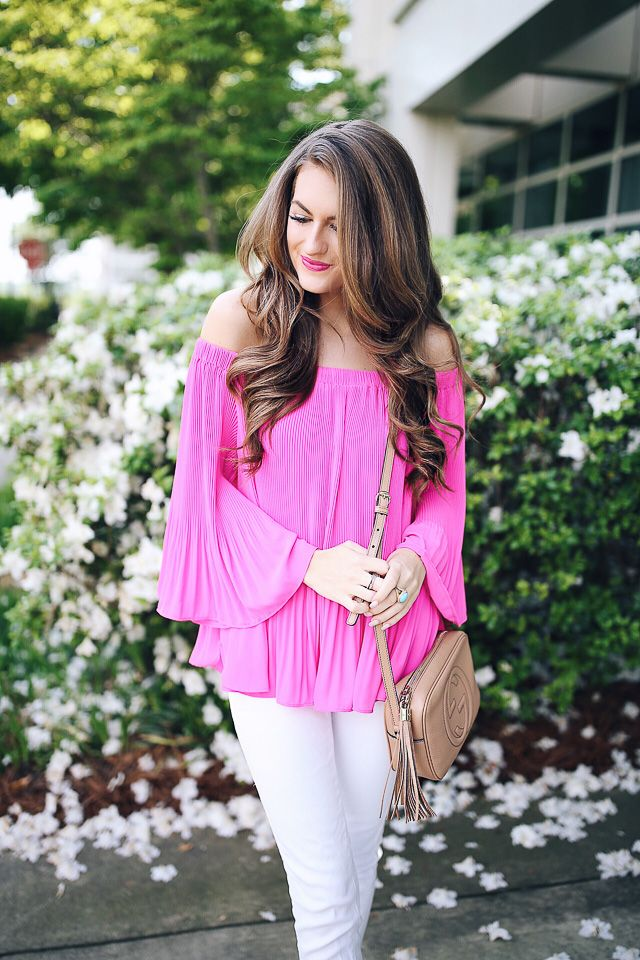 Southern Curls & Pearls: Hot Pink Blouse + Life Update!