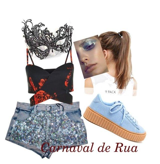 """estilo Carnaval de rua"" by zavalle on Polyvore featuring Masquerade and NIKE"