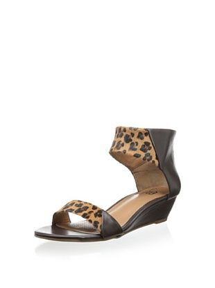61% OFF Ciao Bella Women's Whitney Demi Wedge Sandal (Coffee/Leopard)
