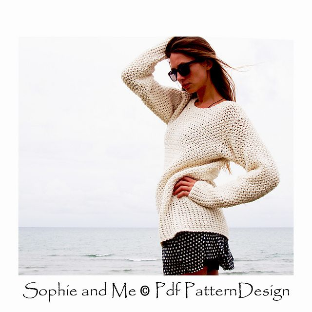 Basket Weave crochet Sweater. Simple and cool! Pattern available!