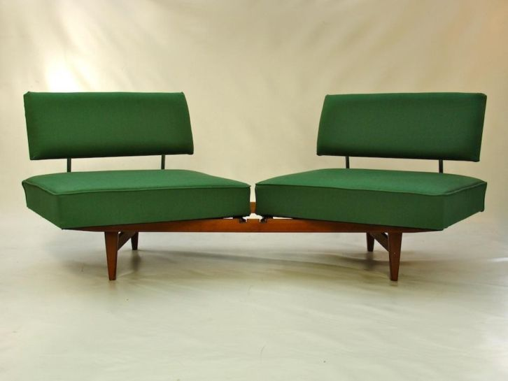 Vintage retro sofa bed knoll stella jaren 60 so nice for Interieur 70 jaren