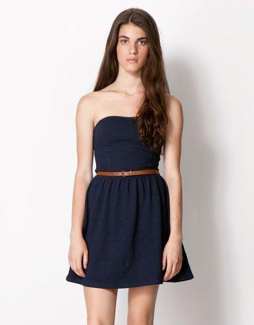 Bershka Singapore - BSK belt detail dress