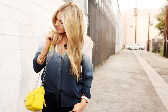 Ombre t-shirt inspired by this. I think I would try and old white shirt and do this though.