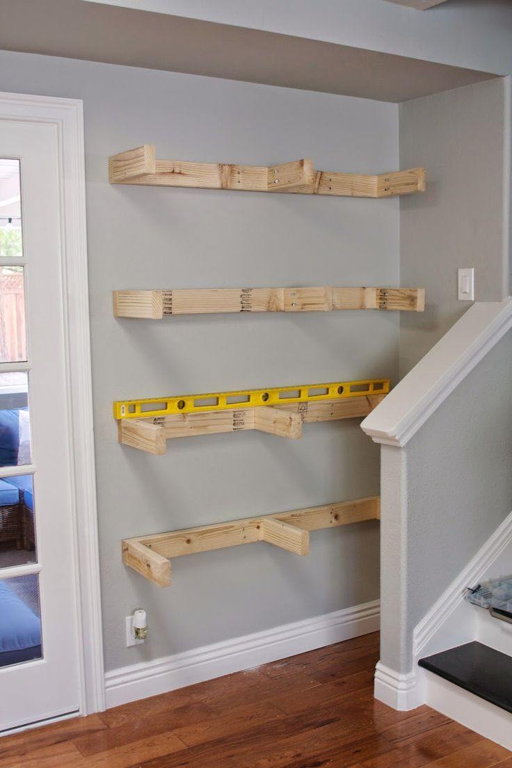 433 best images about for the home on pinterest pallet for Simple closet shelves
