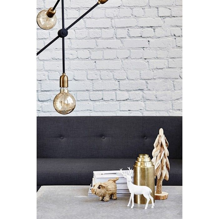 Molecular Ceiling Lamp by House Doctor DK with a tint of colour using gold light bulbs.