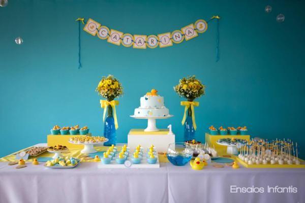Festa de aniversário Azul e amarelo...   .
