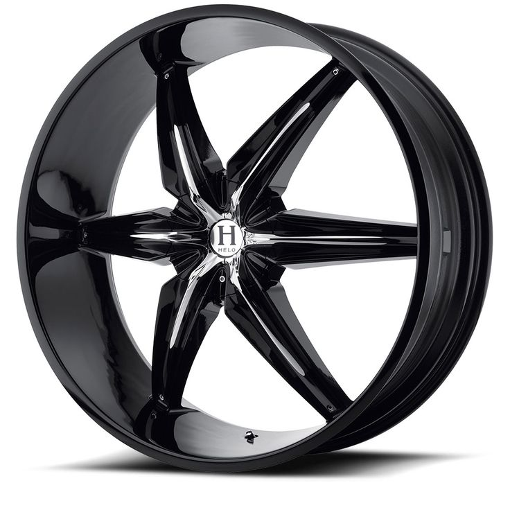 Helo Wheels HE866 Gloss Black With Removable Chrome Accents