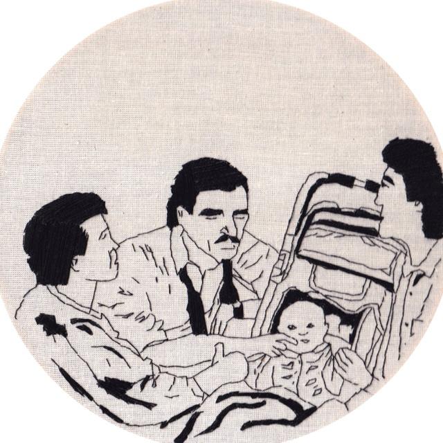 Three Men & a Baby by Reena Makwana, featured today on TheWorldofKitsch.com  http://reenamakwana.blogspot.com/