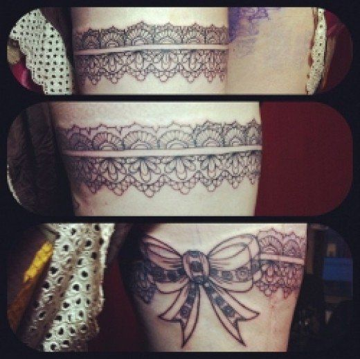 17 best ideas about thigh garter tattoo on pinterest for Revival tattoo and piercing