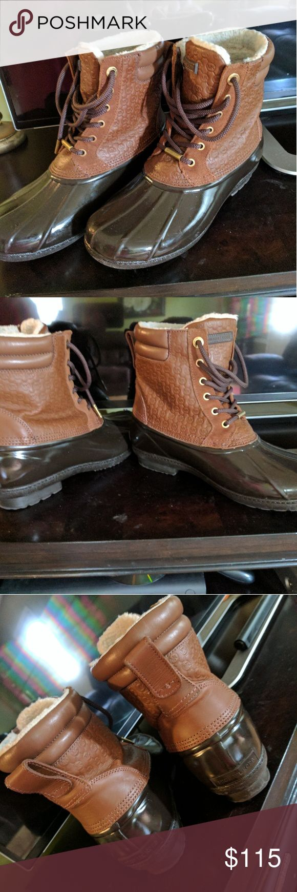 MK Duck Boots! Worn 2 or 3 times!! Real MK boots! Paid close to $200 Michael Kors Shoes Winter & Rain Boots