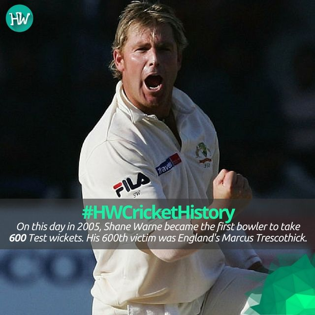 #HWCricketHistory 11 years ago today, Shane Warne became the first bowler to take 600 Test wickets! #cricket #AUS