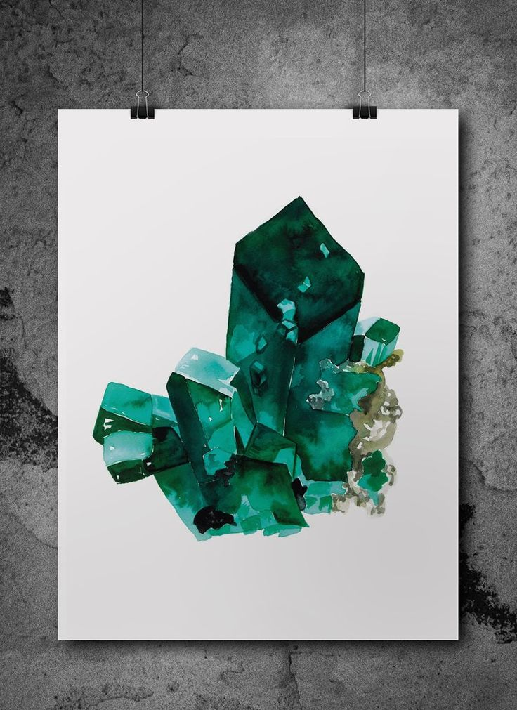 emerald with envy  watercolour print