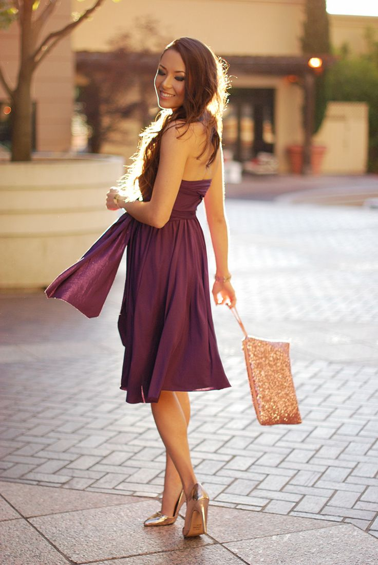 Jessica R, Fashion Blogger of Hapatime.com. Wearing Convertible dress by My Little Bow. #fashion blogger, #covertible dress, #my little bow, #jessica r. #pretty dress.