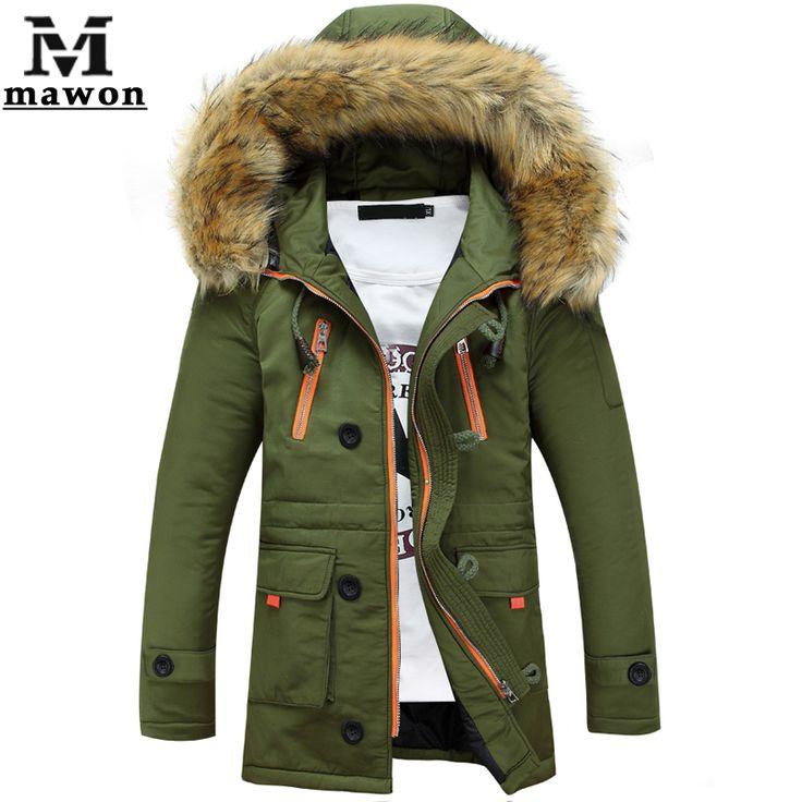 Aliexpress.com: Comprar Por la chaqueta de algodón, chaqueta de invierno cuello de piel   engrosamiento capa de la chaqueta exterior Parka hombres Manteau Homme MJ244 de chaqueta de esquí de fiable proveedores en Mawon