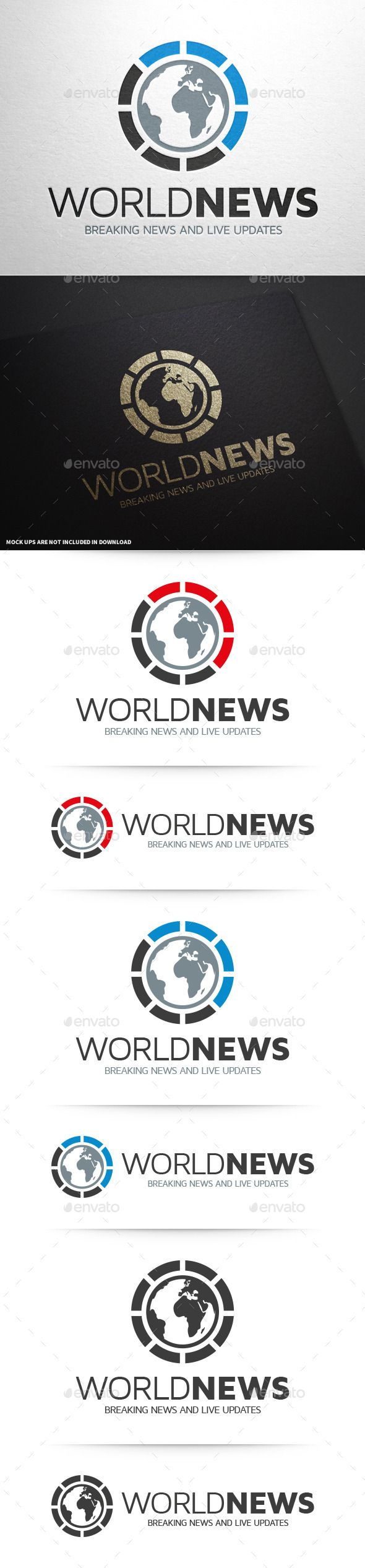 World News Logo Template — Vector EPS #agency #world • Available here → https://graphicriver.net/item/world-news-logo-template/10313780?ref=pxcr