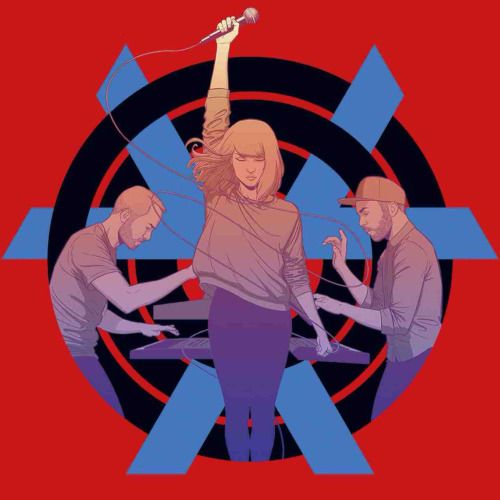 CHVRCHES Tour Poster for The Bones Of What You Believe, illustration by Jamie McKelvie