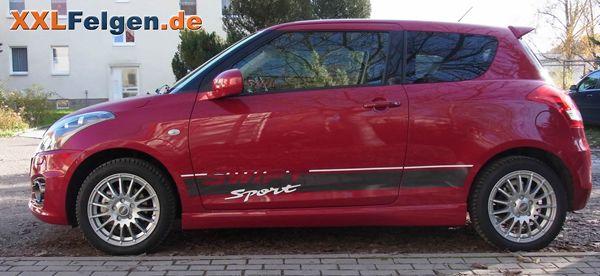 Suzuki Swift Sport Typ NZ mit 16 Zoll Winterfelgen DBV Florida silber