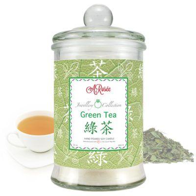 Scented soy candle ARosée Green Tea. Home decor. Domácí dekorace.