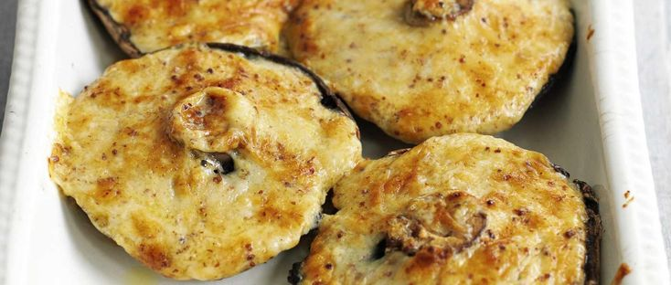 This recipe transforms Welsh rarebit into a moreish side dish. Mushrooms are stuffed with cheddar cheese with a kick of mustard and Worcestershire sauce.